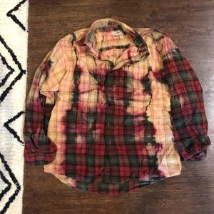 Urban Outfitters LL Bean Bleached Flannel Vintage